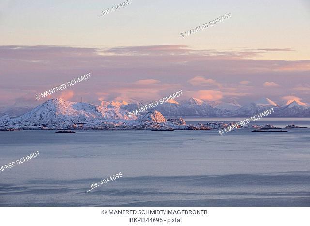 Skrova island in the Vestfjord, Lofoten, Nordland, Norway