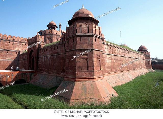The Red Fort in Delhi,India
