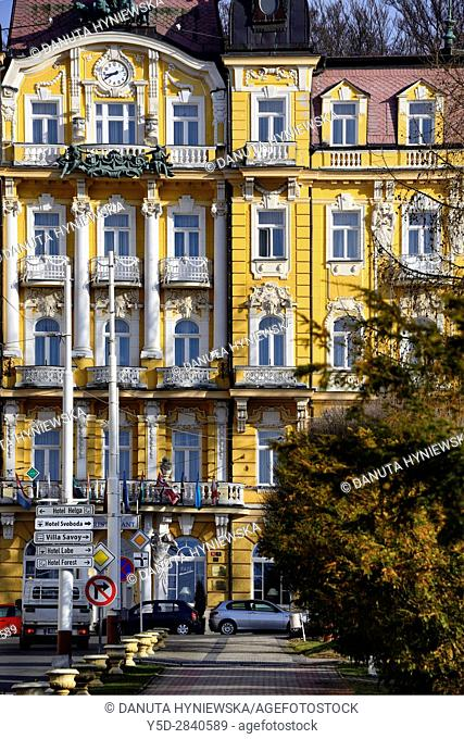 Residential architecture, Grandhotel Pacifik, Spa resort Marianske Lazne - Marienbad, West Bohemia, Czech Republic, Europe