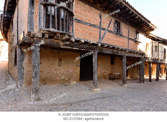 Archs of medieval village of Calatanazor, Soria province,Castilla Leon, Spain