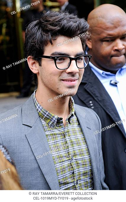 Joe Jonas, leaves his Midtown Manhattan hotel out and about for CELEBRITY CANDIDS - WEDNESDAY, , New York, NY May 19, 2010