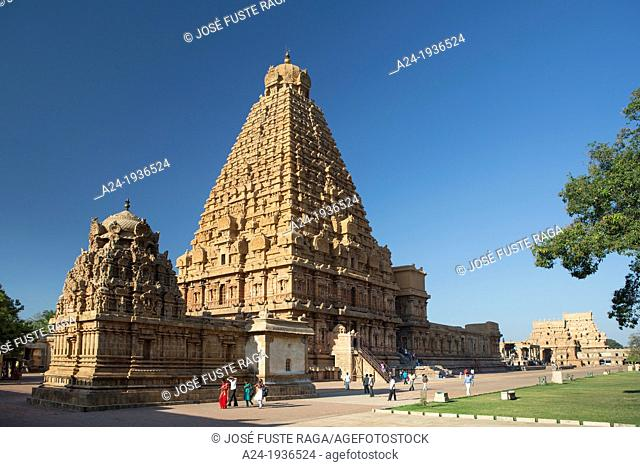 India , Tamil Nadu State , Thanjavour City (Tanjor), Sri Brihadeshwara Temple (W.H.)