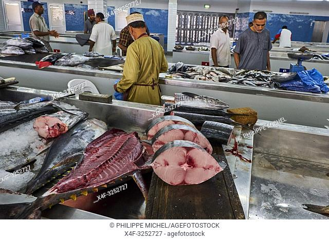 Sultanate of Oman, Muscat, the corniche of Muttrah, the old town of Muscat, fish market