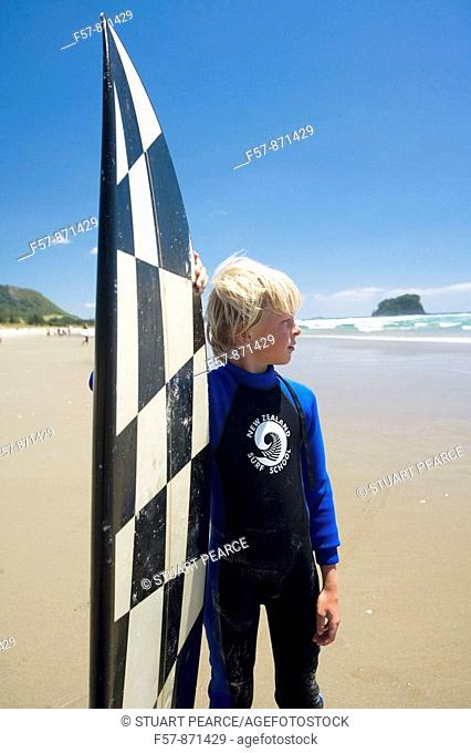 Surf School in Mt  Maunganui, North Island, New Zealand