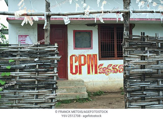 Office of the Communist Party of India ( Marxist) in a rural area near Bhadrachalam ( Andhra pradesh, India)