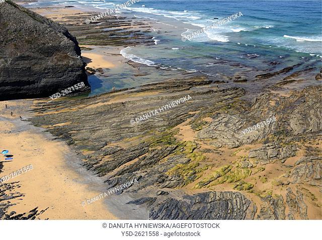 Monte Clerigo beach near Aljezur, Algarve, Portugal, Europe
