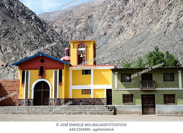 Church of Sisicaya village.Huarochiri.Lima.Perú