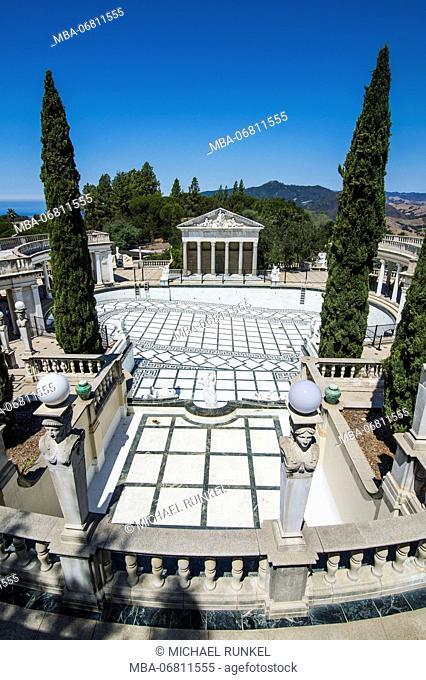 The luxurious Neptune Pools, Hearst castle, Big Sur, California, USA
