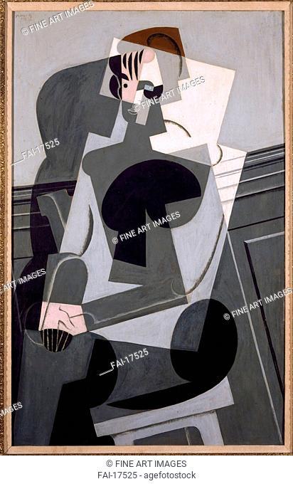 Portrait de Madame Josette Gris. Gris, Juan (1887-1927). Oil on wood. Cubism. 1916. Museo Nacional Centro de Arte Reina Sofía, Madrid. 140,5x97