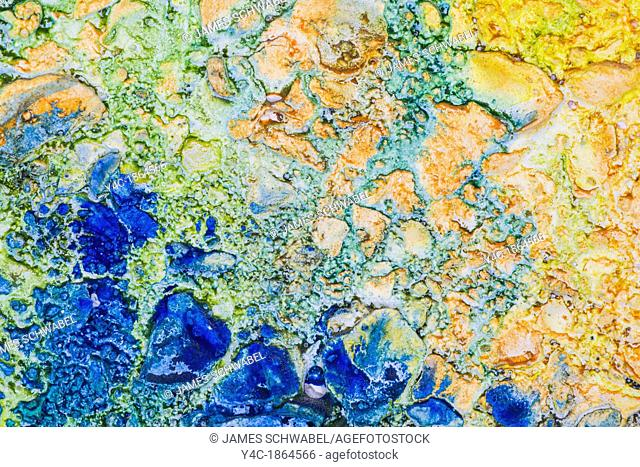 Closeup detail of colorful abstract rough surface