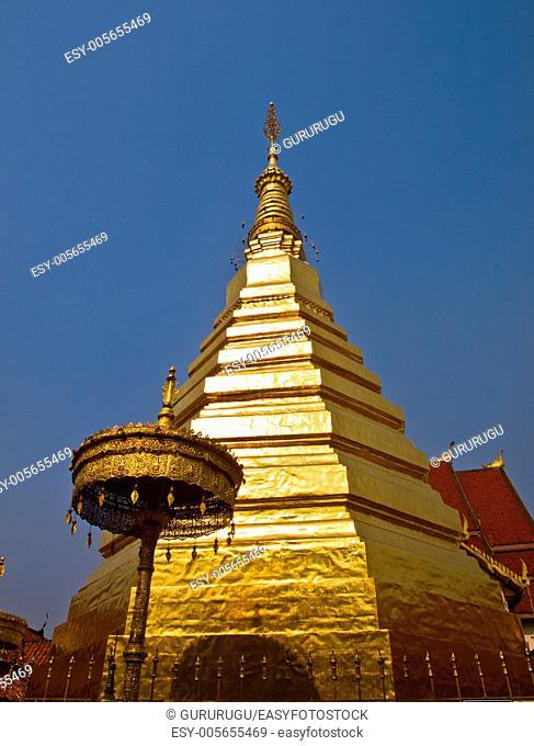Phrathatchohae golden pagoda, Phrae, Thailand