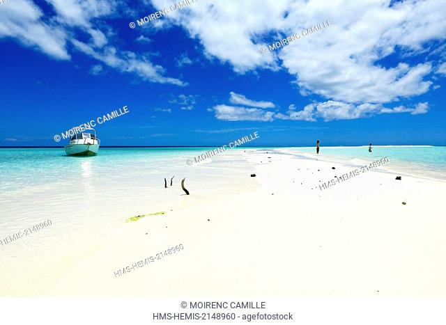 France, New Caledonia, Isle of Pines, Nokanhui Atoll, Lagoon listed as World Heritage by UNESCO