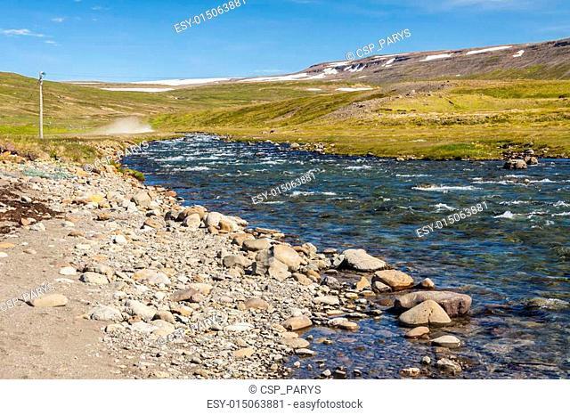 Icelandic river in Unadsdalur
