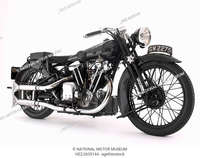 1932 Brough Superior 10hp SS100, Lawrence of Arabia's Bike. Artist: Unknown