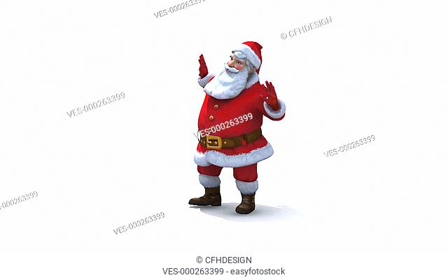 Santa character dancing - loop-able. Comes with Alpha so you can layer it on to any background