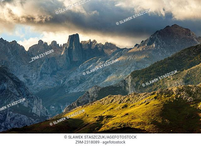 Stormy morning in Picos de Europa National Park, los Urrieles (central massif)