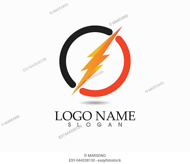 lightning icon logo and symbols