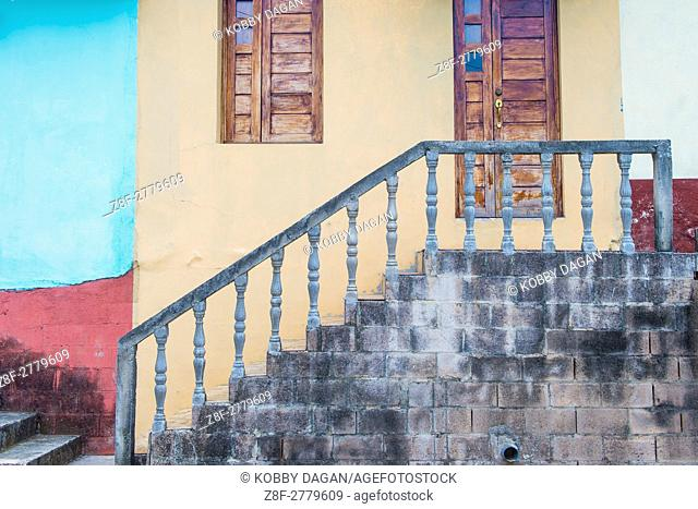 Architectural details in Suchitoto El Salvador. the colonial town of Suchitoto built by the Spaniards in the 18th century