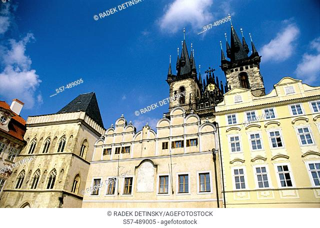 Tyn Cathedral, Old Town Square, Prague, Czech Republic