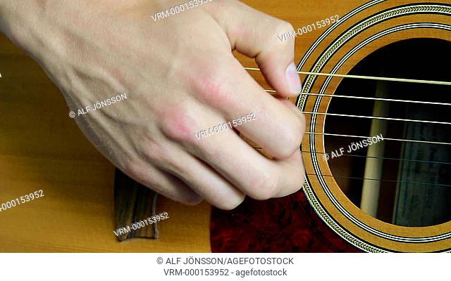 Guitarplaying, close up