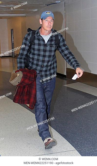 Ty Pennington departs from Los Angeles International Airport (LAX) Featuring: Ty Pennington Where: Los Angeles, California