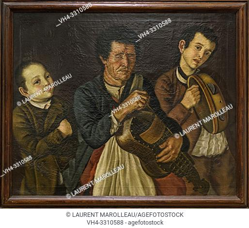 Three Musicians by Jose Antonio Benedito Soares de Faria e Barros called O Morgado de Setubal (1752-1809), Oil on canvas Portuguese School (1792)