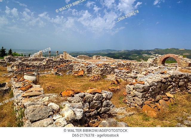 Albania, Ballsh, ruins of the Illyrian city of Byllis, 4th century BC, The Cathedral