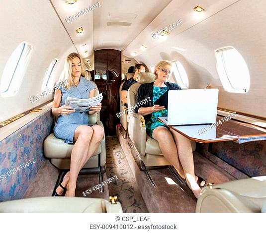 Business Professional In Corporate Jet