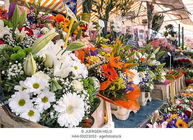 France, Alpes Maritimes, Provence, French Riviera, Mediterranean, Market of Cours de Selaya, Les Ponchettes, Street Cafe
