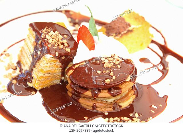 Assorted tarts dessert. Cookie tarts