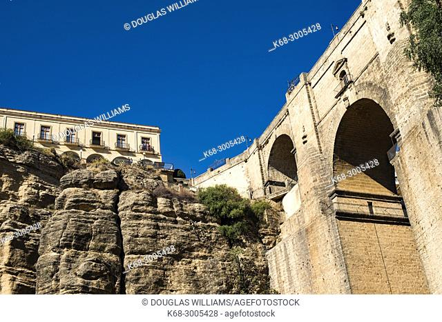 Puente Nuevo (New Bridge) over 'Tajo' of Ronda, Malaga, Spain