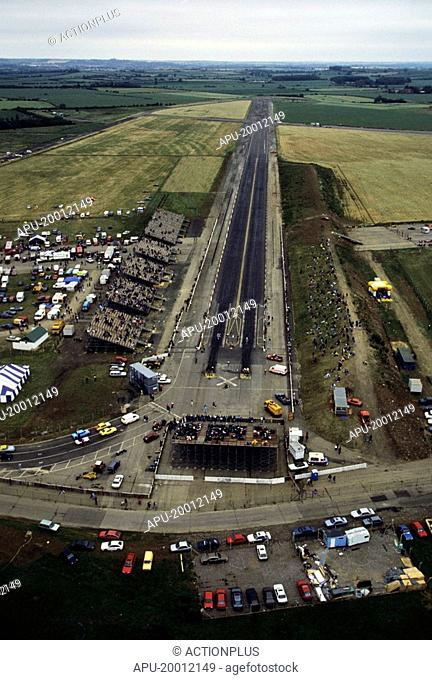 Arial view of a drag race track