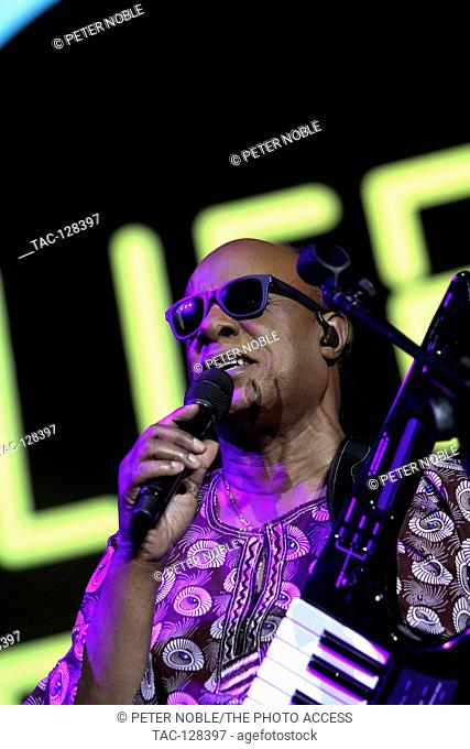 Musician Steveland Morris aka Stevie Wonder performing live on stage at Life is Beautiful Music Festival Day 1 on Friday, September 25th, 2015 in Las Vegas