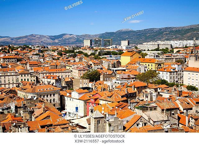 cityscape, split, dalmatia, croatia, europe
