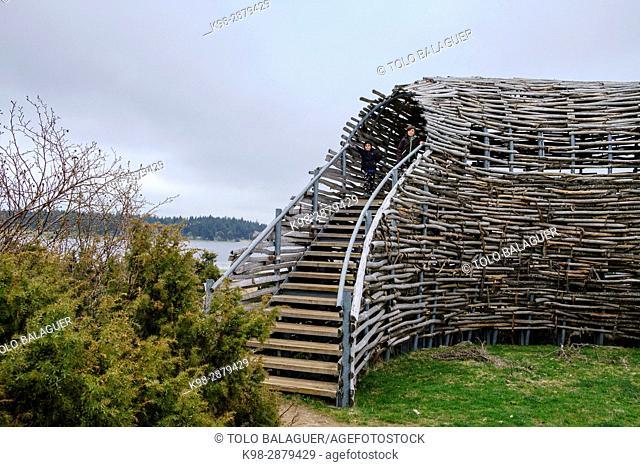 oteadero de avifauna, lago Pècher, parque natural regional de los volcanes, Auvernia, France,Western Europe