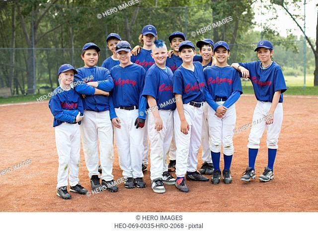 Team photo of boys baseball team