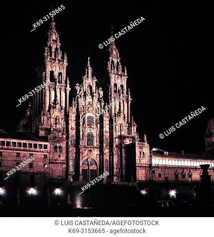 The Cathedral. Santiago de Compostela. Spain