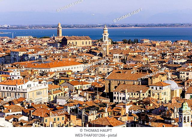 Italy, Venice, view over Venice