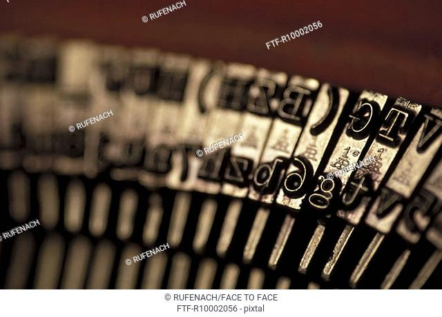 Detail of an old typewriter