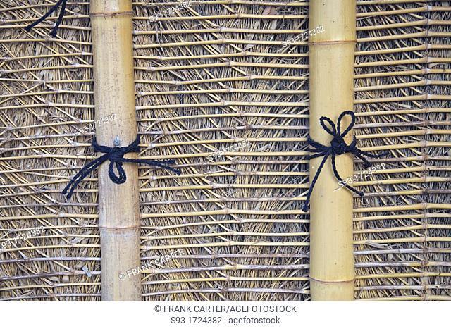 Patterns in a bamboo fence in Arashiyama