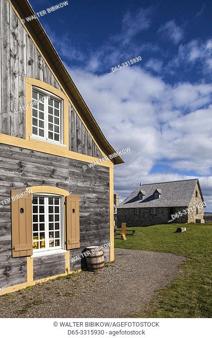 Canada, Nova Scotia, Louisbourg, Fortress of Louisbourg National Historic Park, reconstructed town buildings