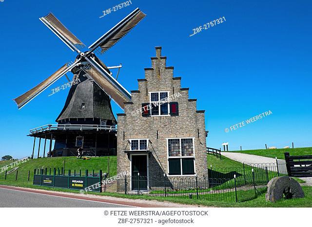 Windmill in Medemblik, the Netherlands