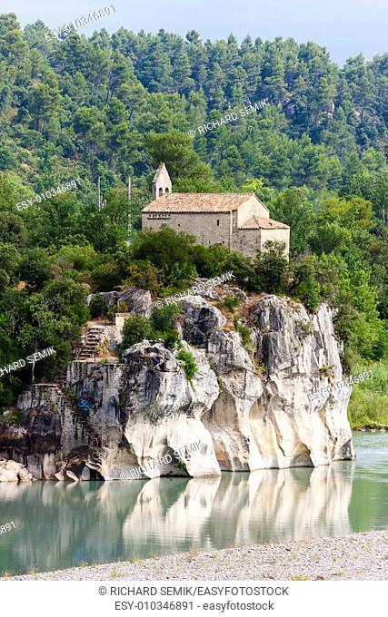 church near Pont Mirabeau, Provence, France