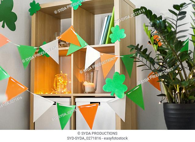home interior decorated for st patricks day party