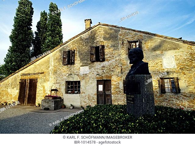 House of Giuseppe Verdi's birth, Roncole, Busseto, province of Parma, Emilia-Romagna, Italy, Europe