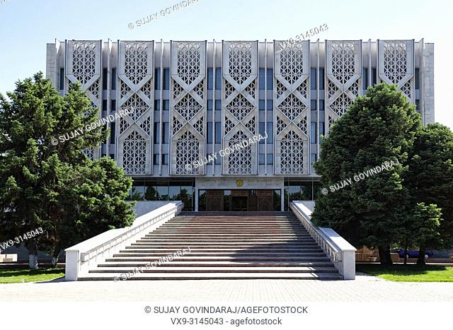 Tashkent, Uzbekistan - May 12, 2017: Front side view of State Museum of History of Uzbekistan, a famous landmark in the city that attract tourists