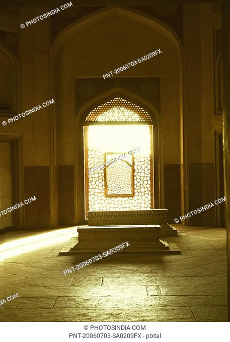 Interiors of a burial chamber, Humayun Tomb, New Delhi, India