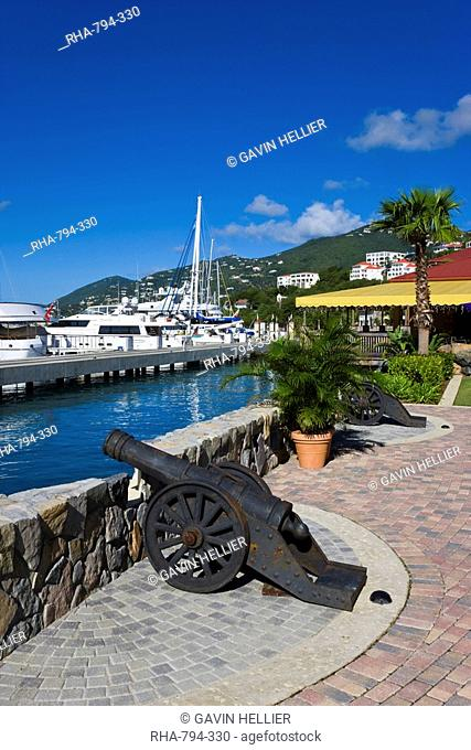 Yacht Haven Grande, the new Yacht Harbour, shopping and restaurant complex completed in 2007, St. Thomas, U.S. Virgin Islands, West Indies, Caribbean