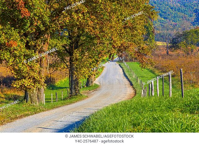 Hyatt Lane in Cades Cove in the Great Smoky Mountains National Park Tennessee
