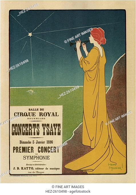 Concerts Ysaÿe, 1895. Artist: Meunier, Henri Georges (1873-1922)